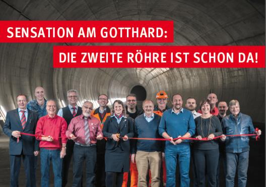 """Sensation: """"Die 2. Gotthardröhre ist schon da!"""""""
