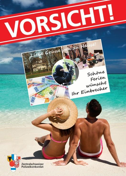 Zentralschweiz: Vorsicht vor Einbrechern in der Ferienzeit! Präventionstipps