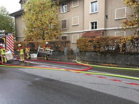 Bümpliz BE: Küchenbrand verursacht erheblichen Sachschaden