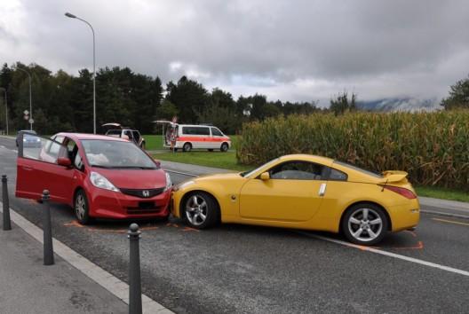 Balzers (FL): Kontrolle über Fahrzeug verloren – Kollision mit Sachschaden