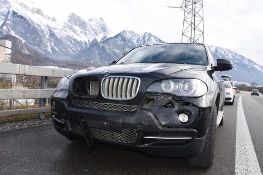 Bad Ragaz SG / A13: Autofahrer (31) bei Auffahrkollision leicht verletzt