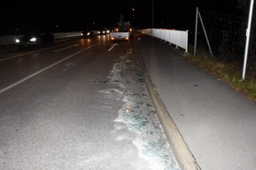 Sevelen SG: Scheibe beim Fahren verloren - mangelhafte Ladungssicherung