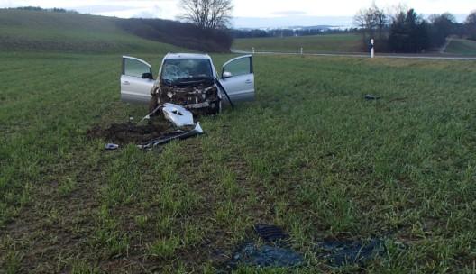 Leuggern AG: 72-jähriger Schweizer Automobilist verursachte Selbstunfall