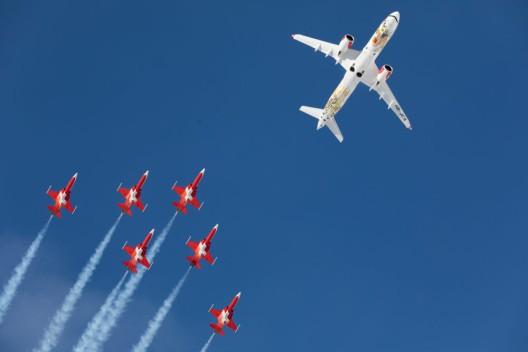 Wengen BE: SWISS mit Flugshow an den 88. Lauberhornrennen