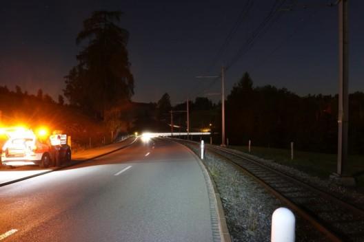 Stadt St.Gallen: Strassenbegrenzungspfähle umgefahren und abgehauen