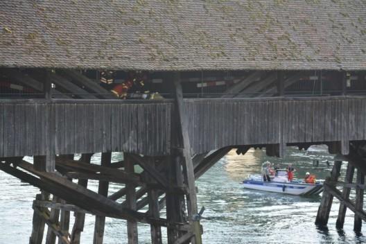Olten SO: Brand auf Holzbrücke - Ermittlungen zur Brandursache im Gang