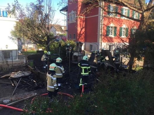 Kaiseraugst AG: Gartenhaus niedergebrannt