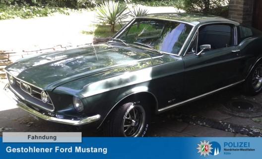 Ford Mustang von 1967 gestohlen – Fahndung mit Fotos