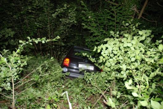 Trimbach SO: Personenwagen landet in Böschung – niemand verletzt