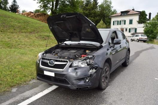 Schwellbrunn AR: Unfall in Kurve - Es entstand Sachschaden