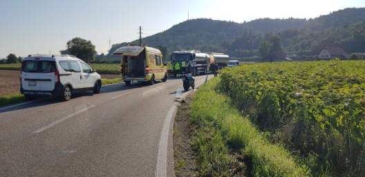 Zeugenaufruf in Oberentfelden AG: Mit Motorrad gestürzt