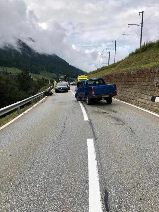 Niederwald und Orsières VS: Zwei Verletzte bei Verkehrsunfällen