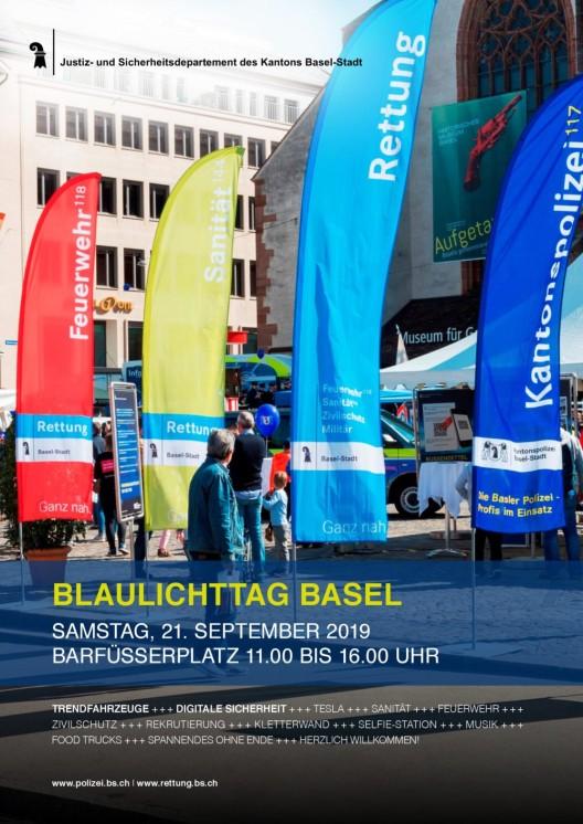 Basel-Stadt BS / Blaulichttag 2019: Helden, Trendfahrzeuge und digitale Sicherheit