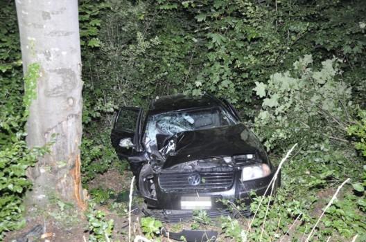Nuglar-St. Pantaleon SO: 19-jähriger Lenker prallt mit Auto gegen Baum