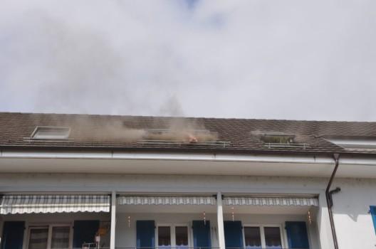 Wangen bei Olten SO: Brand in Dachwohnung ausgebrochen