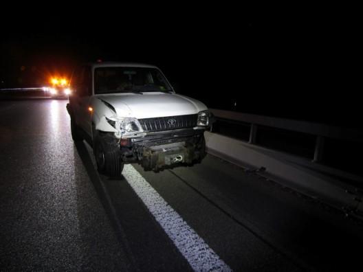 Bilten GL: Auffahrunfall zwischen drei Personenwagen auf der Autobahn A3