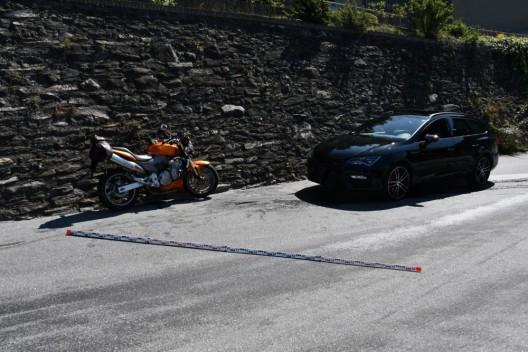 Stadt Chur GR: Motorradfahrer nach Kollision leicht verletzt