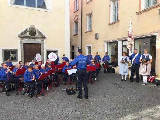 Polizeimusik BL besuchte das Internationale Musikantentreffen in Brixen