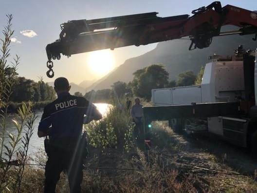 Leytron VS: Vermisstensuche - Autowrack in der Rhone gefunden