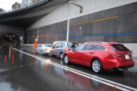 Schaffhausen SH / A4: Auffahrkollision vor dem Fäsenstaubtunnel