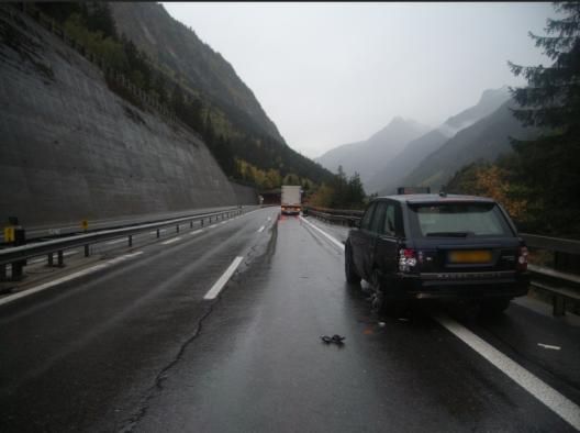 Gurtnellen UR / A2: Lastwagen und Personenwagen kollidiert – niemand verletzt