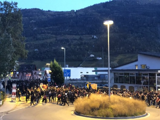 Wallis: Spiel der Super League im Stade de Tourbillon - FC Sion – FC Servette