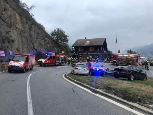Martinach-Combe VS: Verkehrsunfall fordert ein Todesopfer und eine verletzte Person