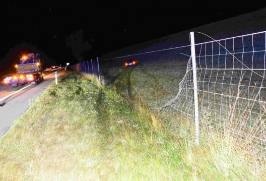 Salez SG / A13: 38-jähriger Autofahrer eingeschlafen und verunfallt