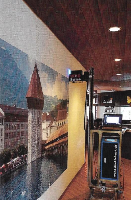 WDD Swiss GmbH druckt direkt auf Ihre Wände