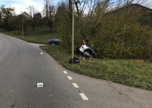 Zeugenaufruf in Elgg ZH: Lenker (20†) eines Kleinmotorfahrzeuges tödlich verunfallt
