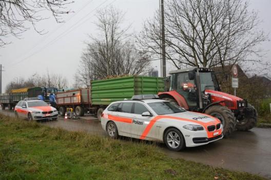 Kapo Thurgau kontrollierte mit Kapo Zürich landwirtschaftliche Fahrzeuge