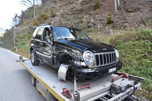 Landquart GR: Verkehrsunfall verursacht Verkehrsbehinderungen