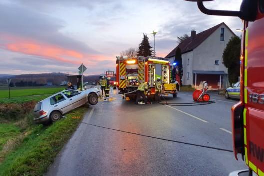 Verkehrsunfall auf der Bundesstraße