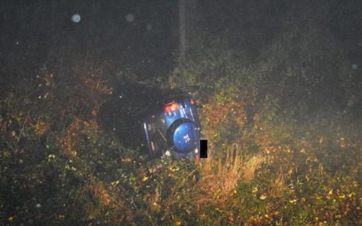 Triesenberg (FL): Von der Strasse gerutscht