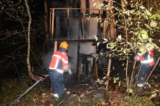 Alt St. Johann SG: Waldhütte abgebrannt - Zeugenaufruf