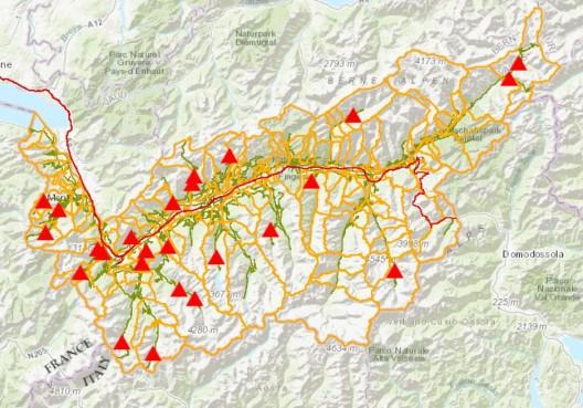 Kanton Wallis: Interaktive Karte informiert über Strassenzustände
