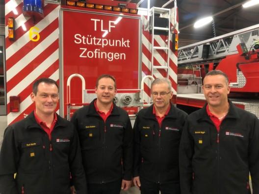 Feuerwehr Zofingen (AG): Doppelte Kommandoübergabe nach 27 Jahren