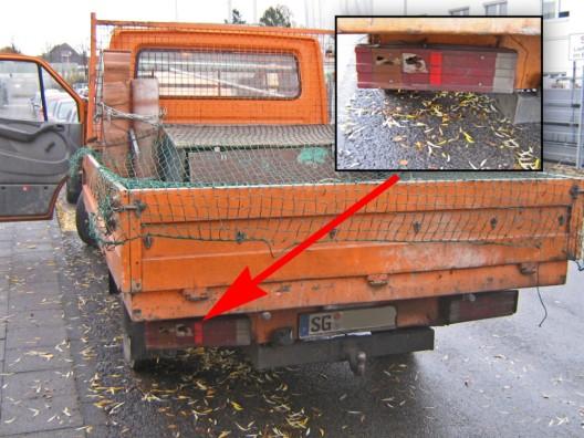 47 teils gefährliche Fahrzeugmängel an überprüftem LKW