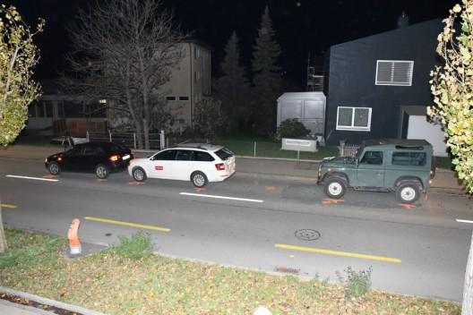 Chur GR: Drei Fahrzeuge in Auffahrunfall verwickelt
