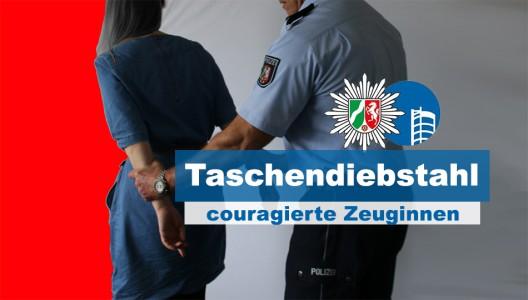 Couragierte Frauen halten zwei Tatverdächtige auf - Polizisten nehmen sie vorläufig fest