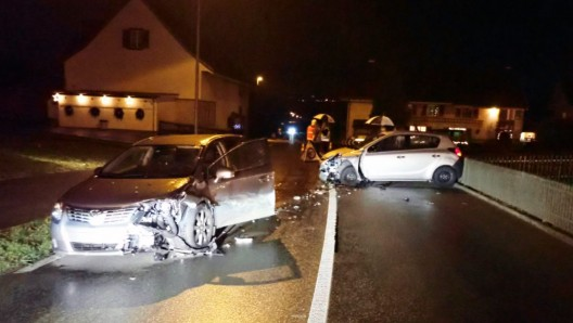 Roggwil TG: Alkoholisiert verunfallt - drei Personen leicht verletzt