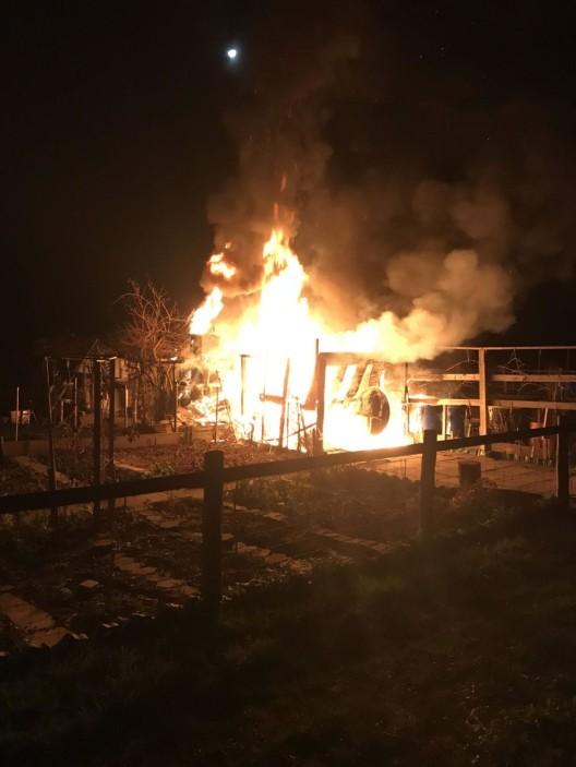 Muttenz BL: Brand in einem Gartenhaus erfordert Feuerwehreinsatz