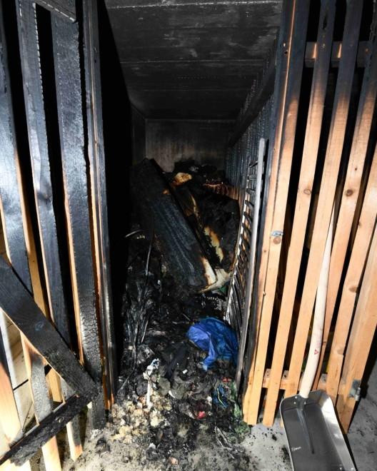 Wittenbach SG: Mögliche Brandstiftung in Kellerabteil