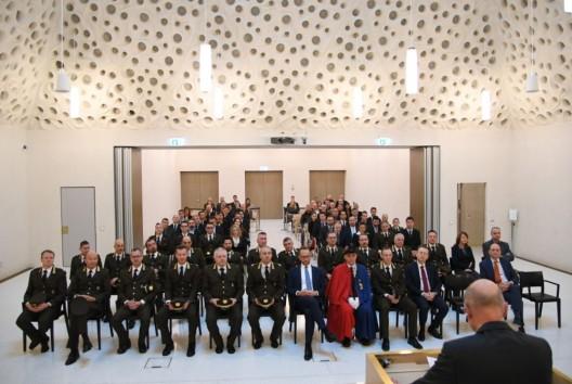 Bellinzona TI: Jährliche Zeremonie der Kantonspolizei