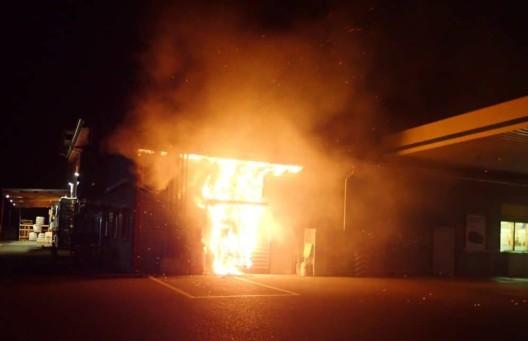 Roggwil TG: Bankomat in Brand gesetzt