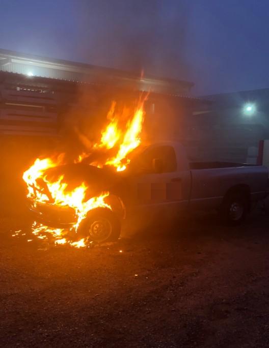Hefenhofen TG: Parkiertes Auto brennt