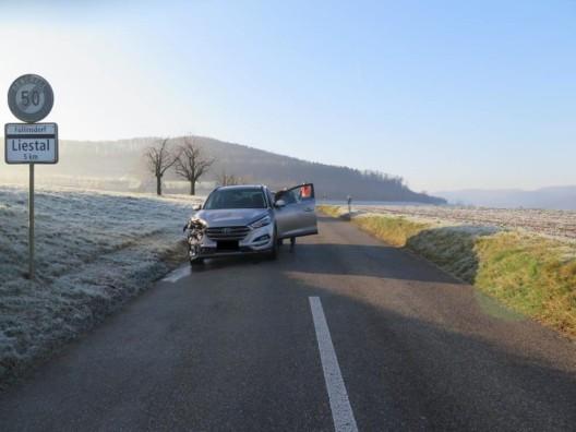 Giebenach BL: Alkoholisierter Fahrzeuglenker verursacht Auffahrkollision