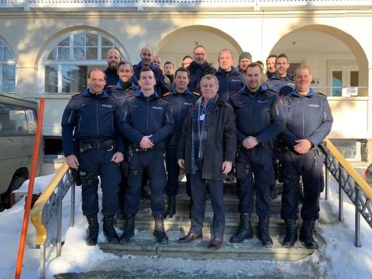 Kantonspolizei Zürich für die polizeiliche Sicherung des WEF im Einsatz