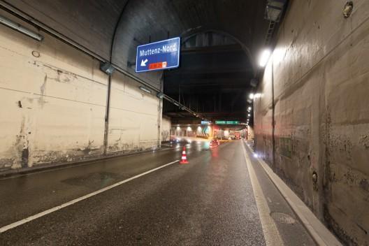 A2 / Schänzli, neue Verkehrsführung im Tunnel Schänzli / Hagnau