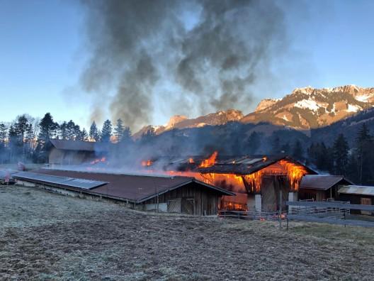Oey BE: Scheune in Brand geraten